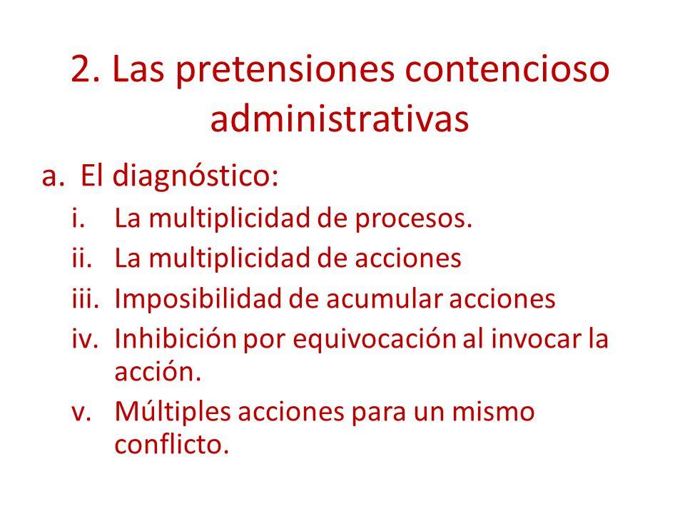 2. Las pretensiones contencioso administrativas
