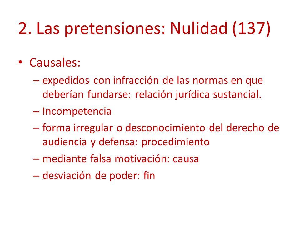 2. Las pretensiones: Nulidad (137)