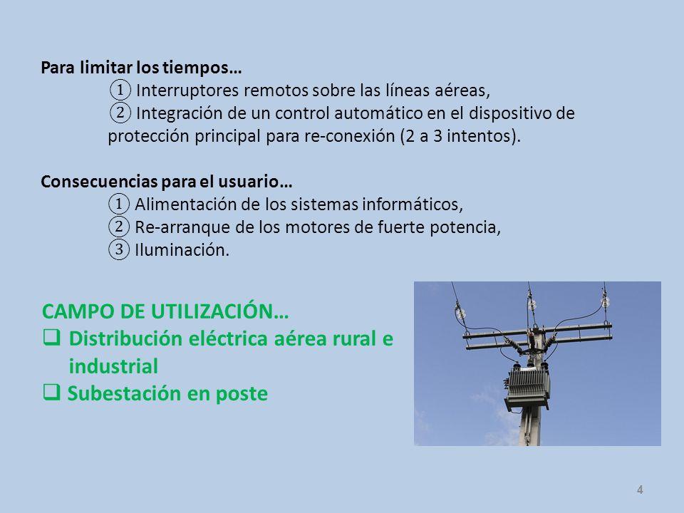 Distribución eléctrica aérea rural e industrial Subestación en poste