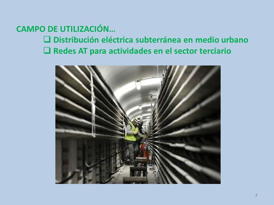 CAMPO DE UTILIZACIÓN… Distribución eléctrica subterránea en medio urbano.