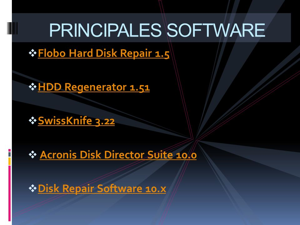 PRINCIPALES SOFTWARE Flobo Hard Disk Repair 1.5 HDD Regenerator 1.51