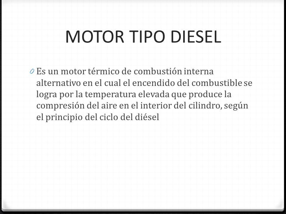 MOTOR TIPO DIESEL