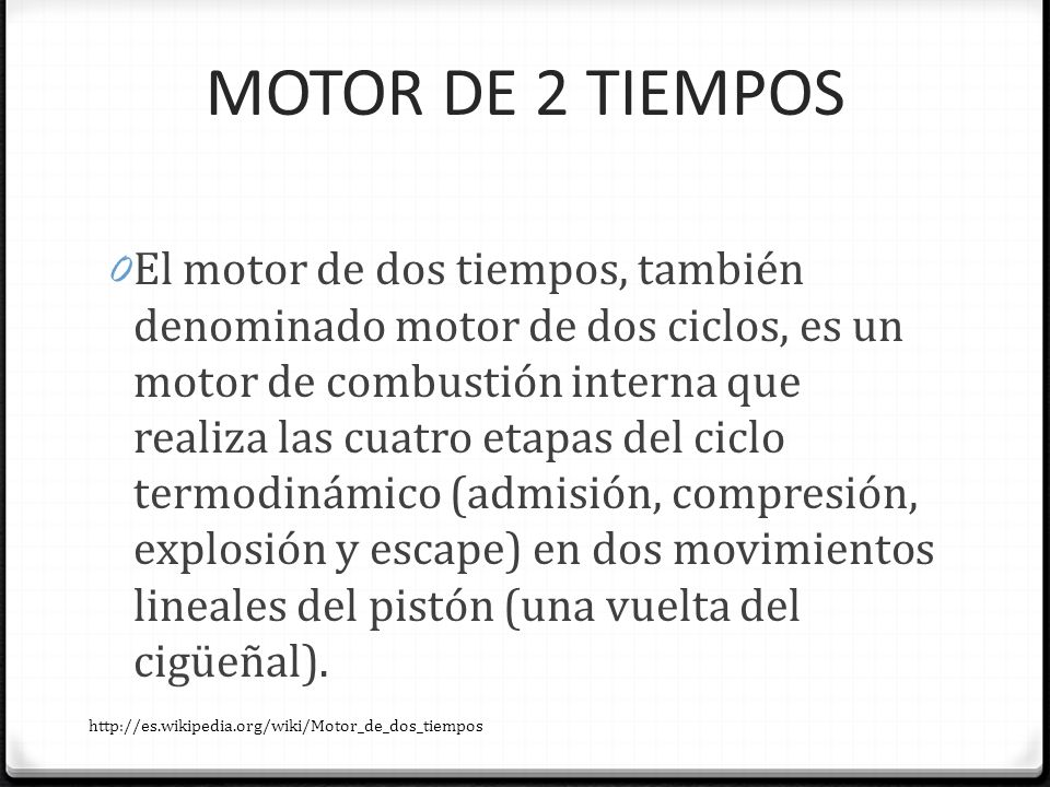 MOTOR DE 2 TIEMPOS