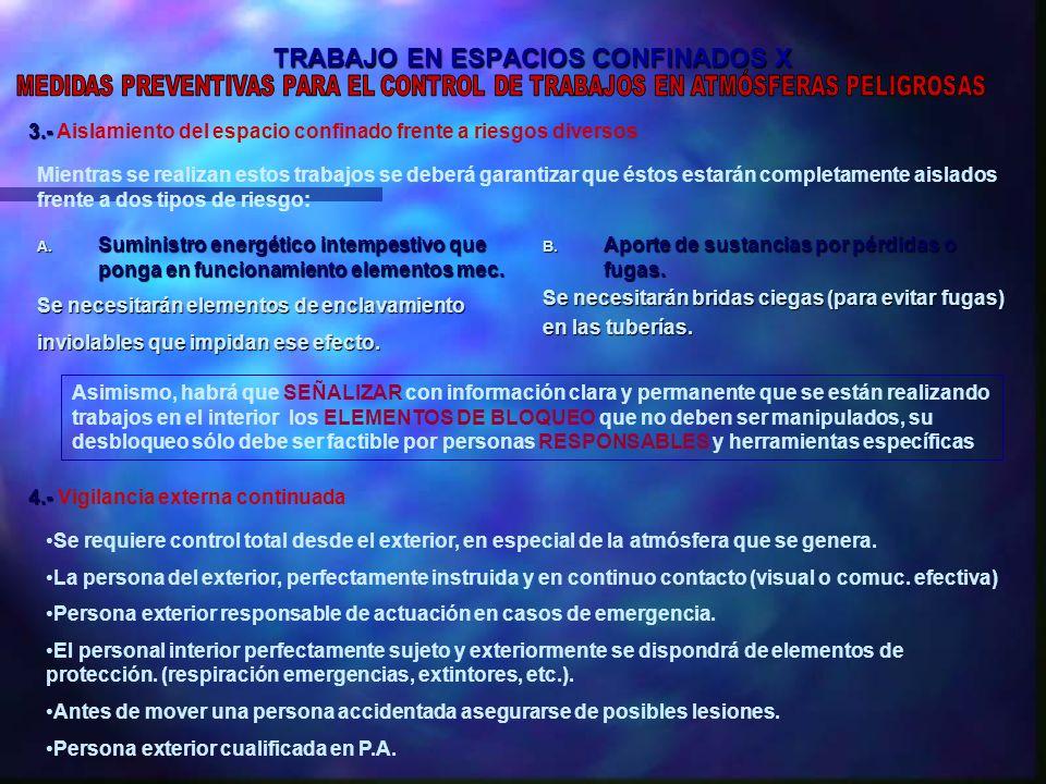 TRABAJO EN ESPACIOS CONFINADOS X