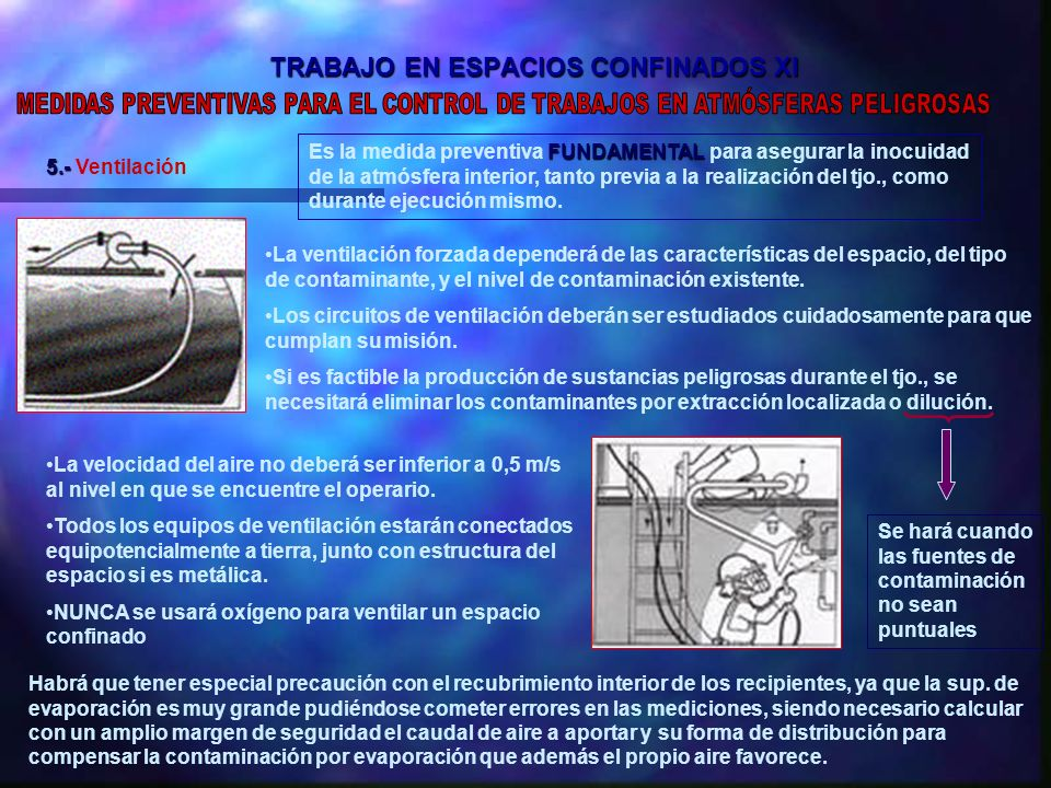 TRABAJO EN ESPACIOS CONFINADOS XI