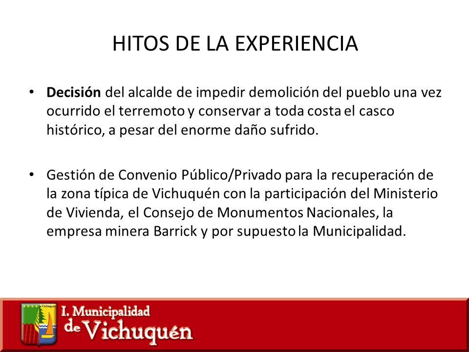 HITOS DE LA EXPERIENCIA