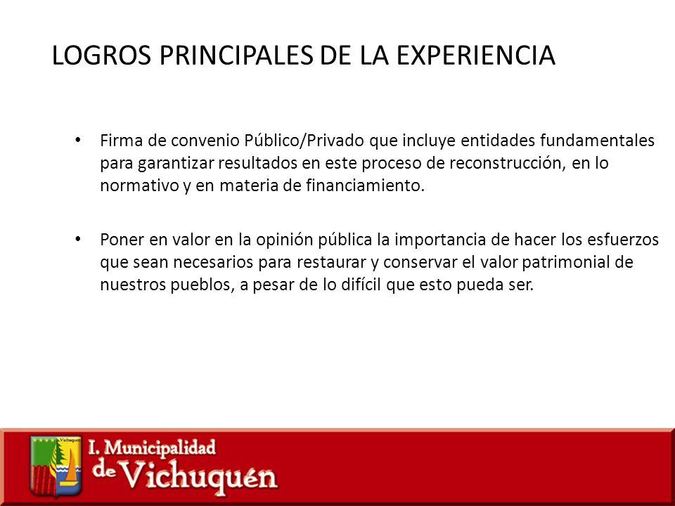 LOGROS PRINCIPALES DE LA EXPERIENCIA