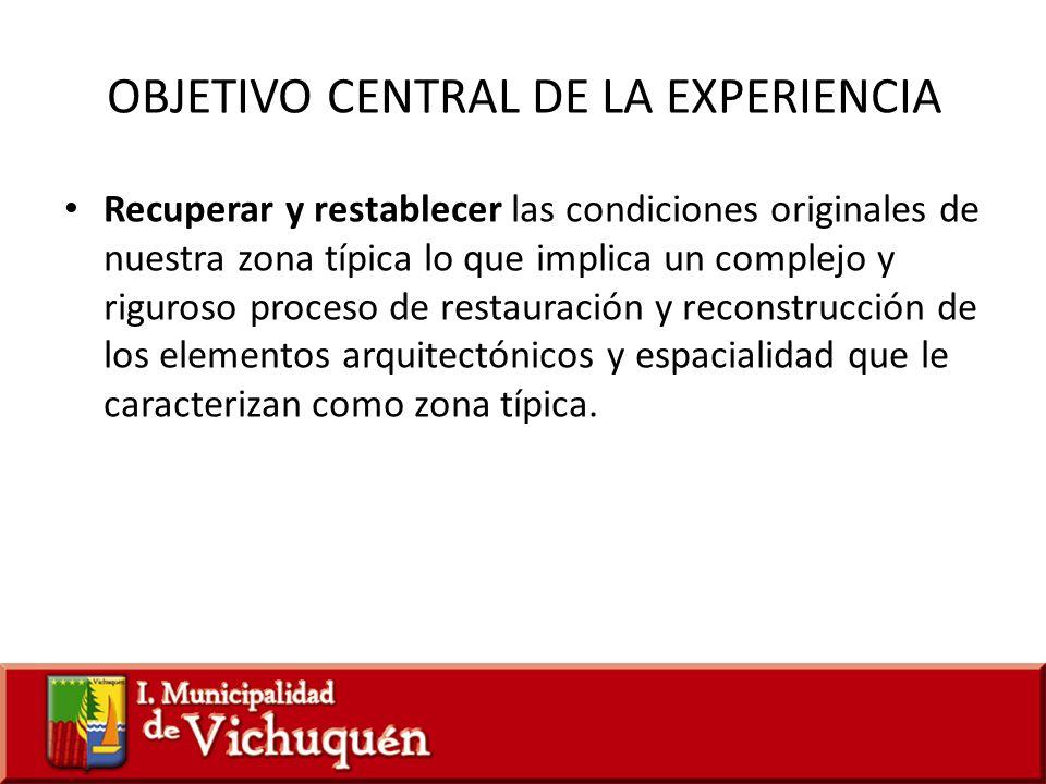 OBJETIVO CENTRAL DE LA EXPERIENCIA