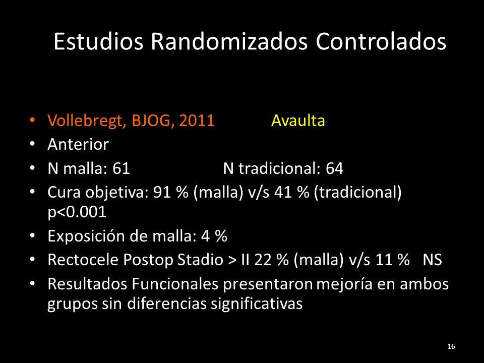 Estudios Randomizados Controlados