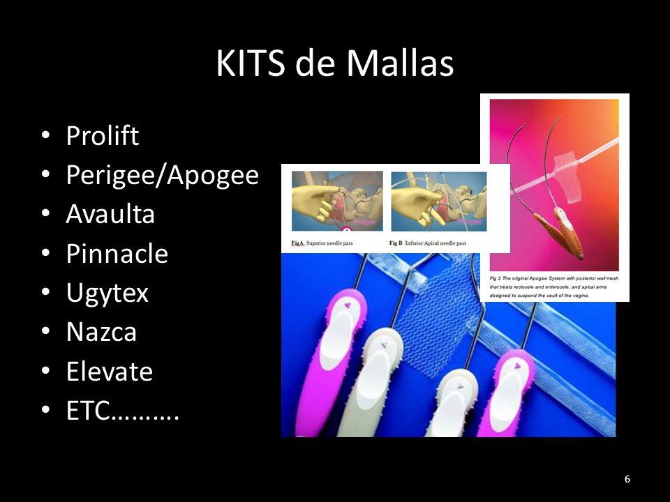 KITS de Mallas Prolift Perigee/Apogee Avaulta Pinnacle Ugytex Nazca