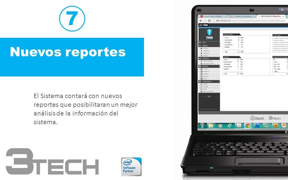 7 Nuevos reportes.