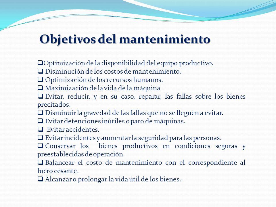Objetivos del mantenimiento
