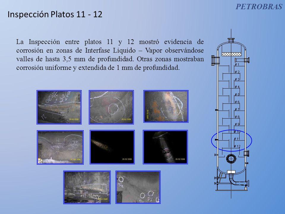 Inspección Platos 11 - 12 PETROBRAS