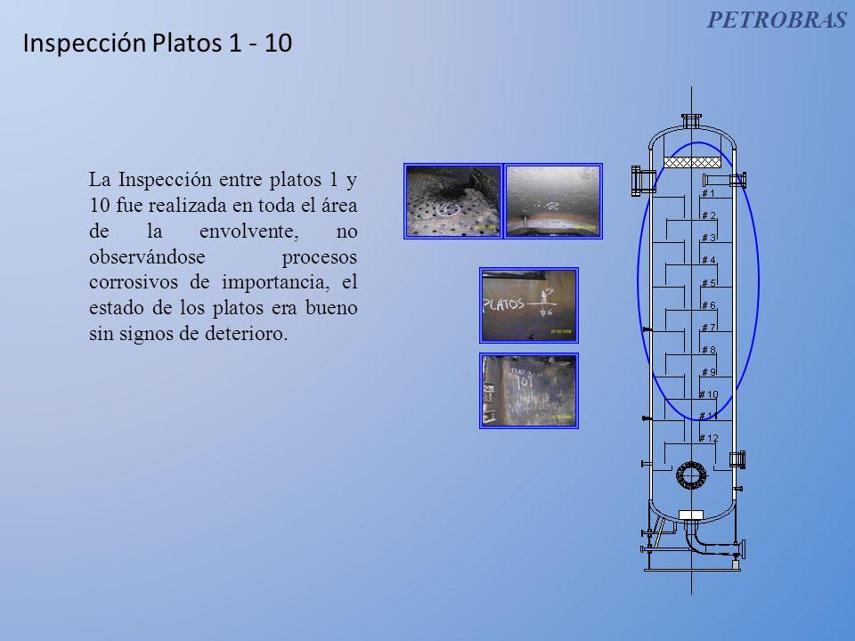 Inspección Platos 1 - 10 PETROBRAS