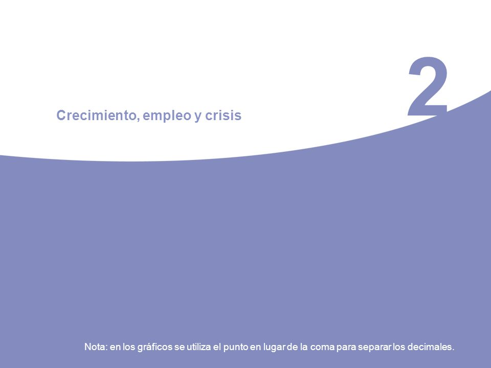 2 Crecimiento, empleo y crisis