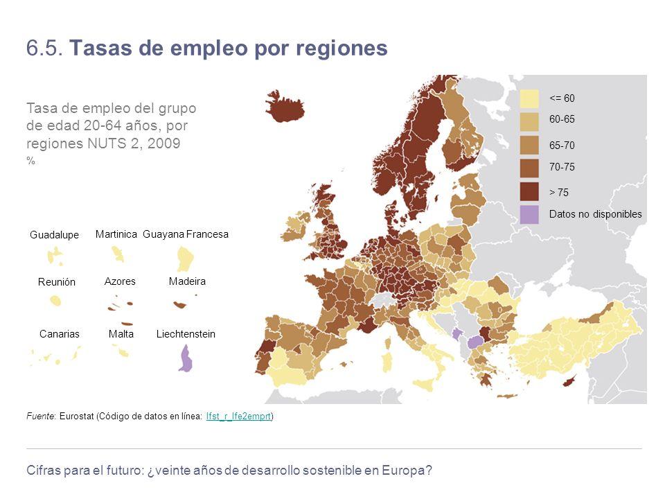 6.5. Tasas de empleo por regiones