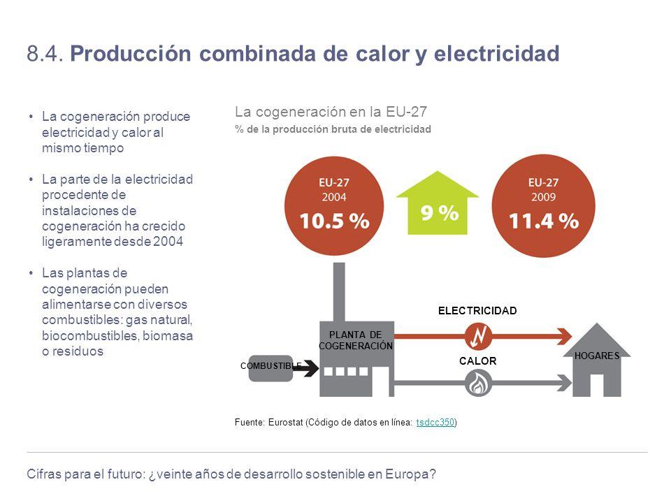 8.4. Producción combinada de calor y electricidad