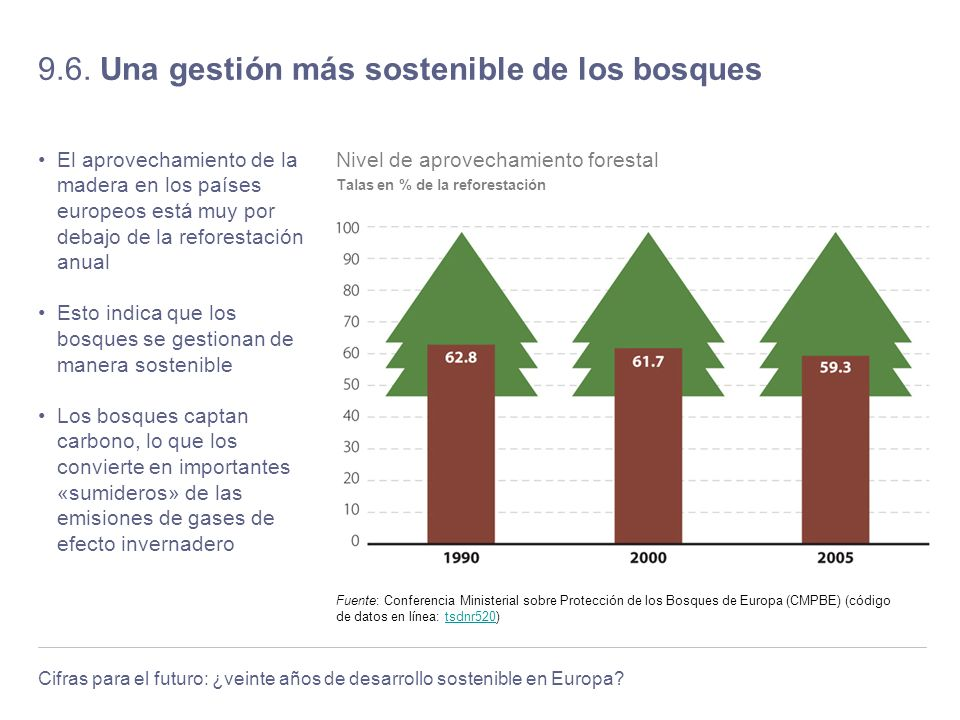 9.6. Una gestión más sostenible de los bosques
