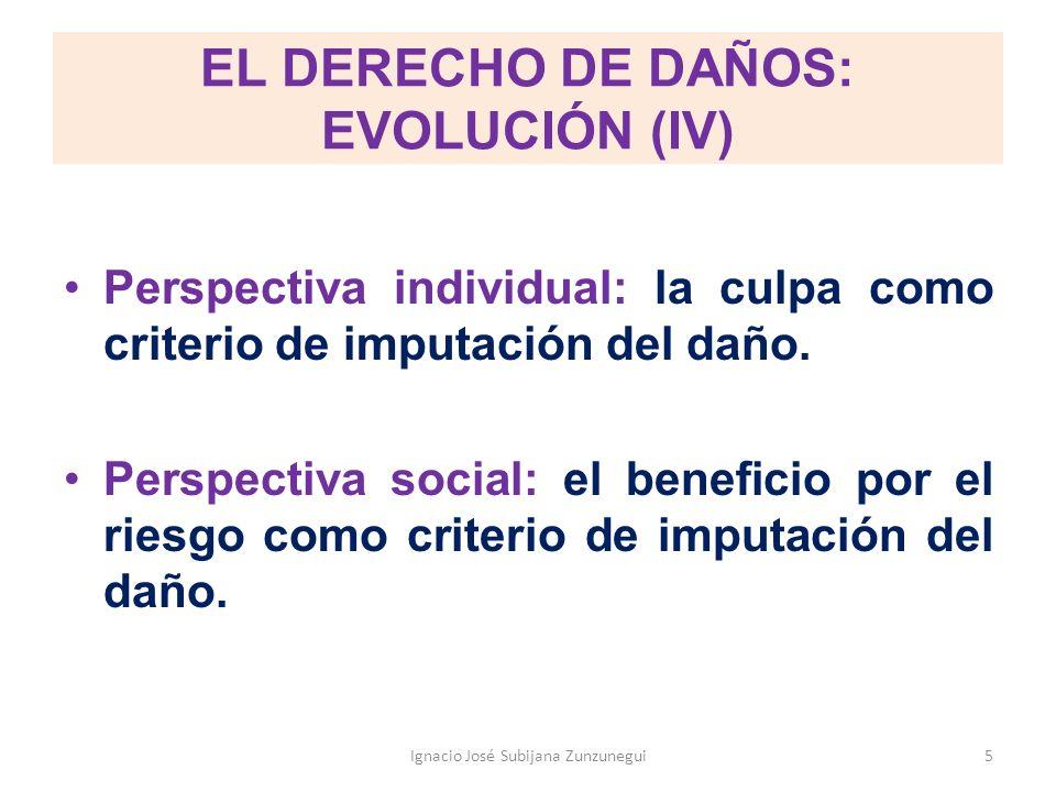 EL DERECHO DE DAÑOS: EVOLUCIÓN (IV)