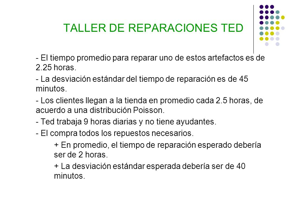 TALLER DE REPARACIONES TED