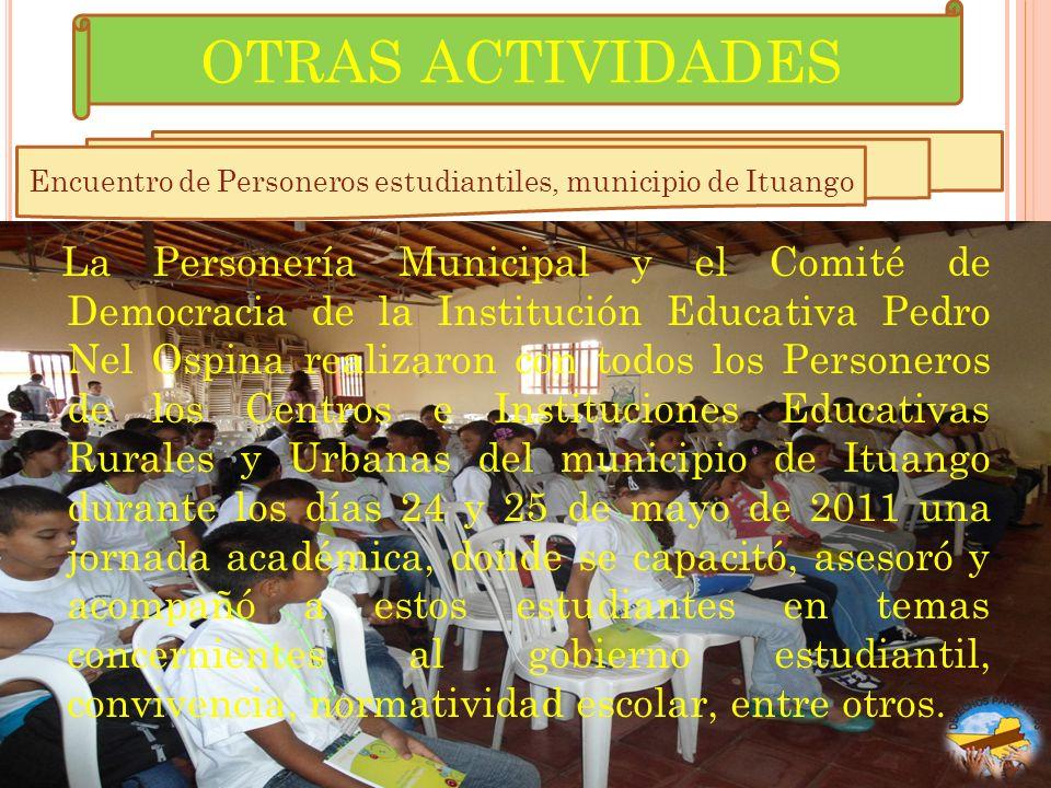 Encuentro de Personeros estudiantiles, municipio de Ituango