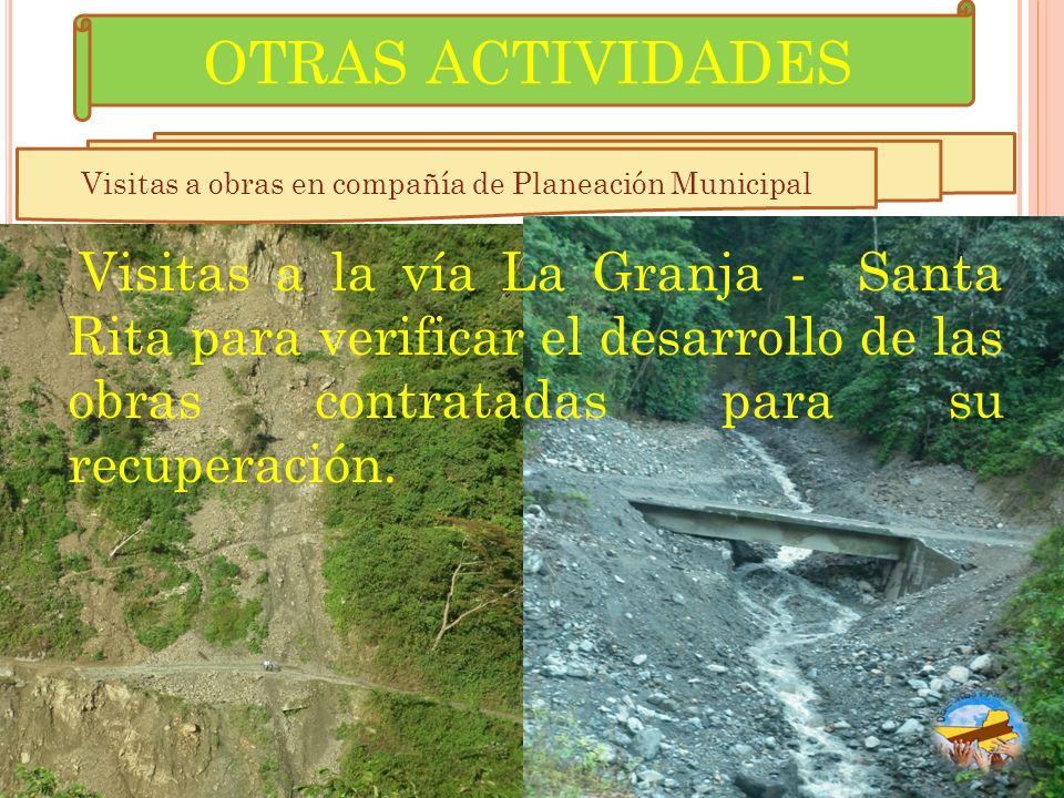 Visitas a obras en compañía de Planeación Municipal
