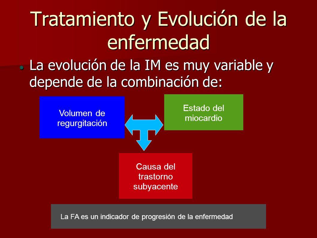 Tratamiento y Evolución de la enfermedad