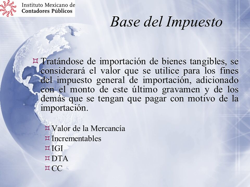 Base del Impuesto