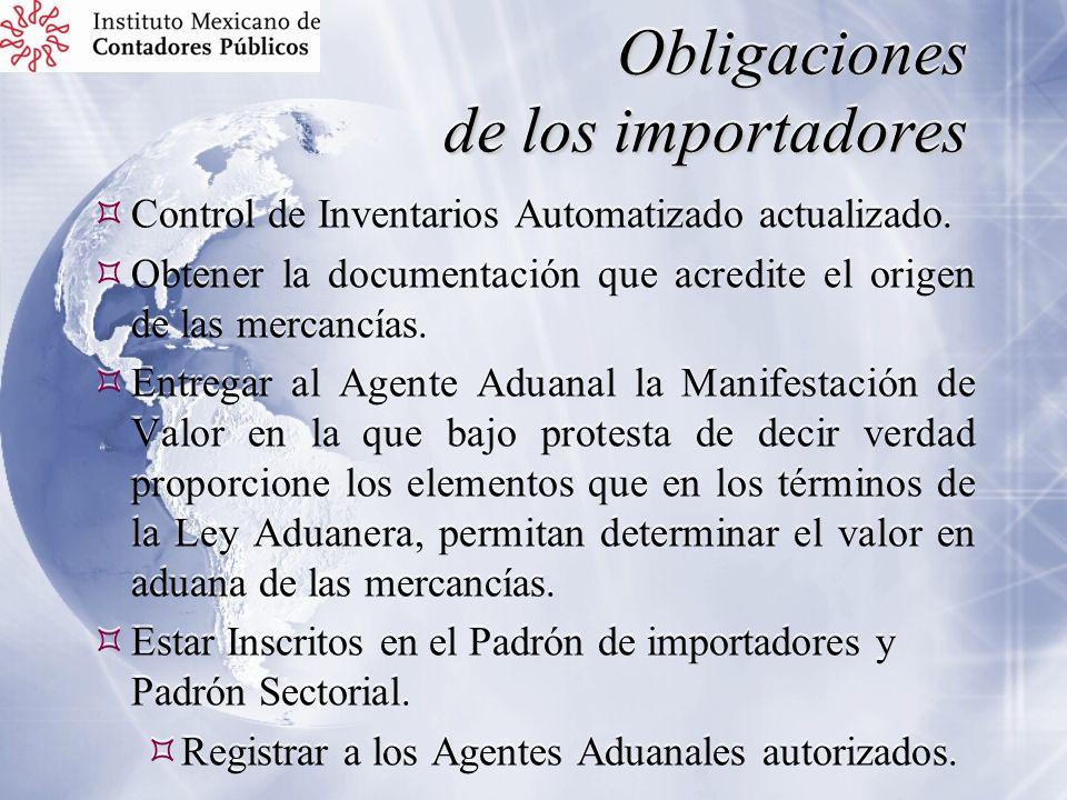 Obligaciones de los importadores