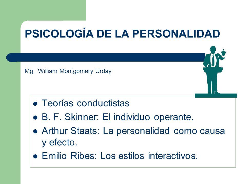 PSICOLOGÍA DE LA PERSONALIDAD Mg. William Montgomery Urday - ppt ...