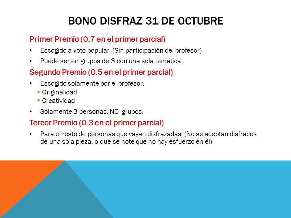 BONO DISFRAZ 31 DE OCTUBRE