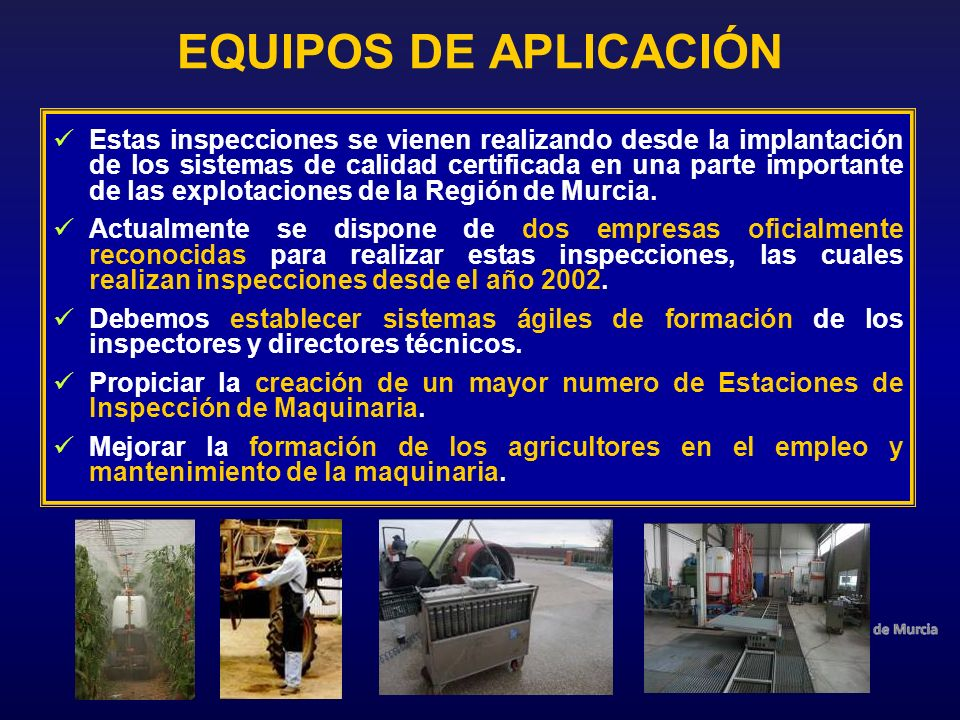 EQUIPOS DE APLICACIÓN