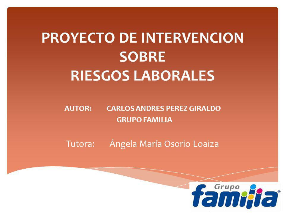 PROYECTO DE INTERVENCION SOBRE RIESGOS LABORALES