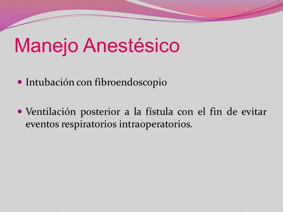 Manejo Anestésico Intubación con fibroendoscopio