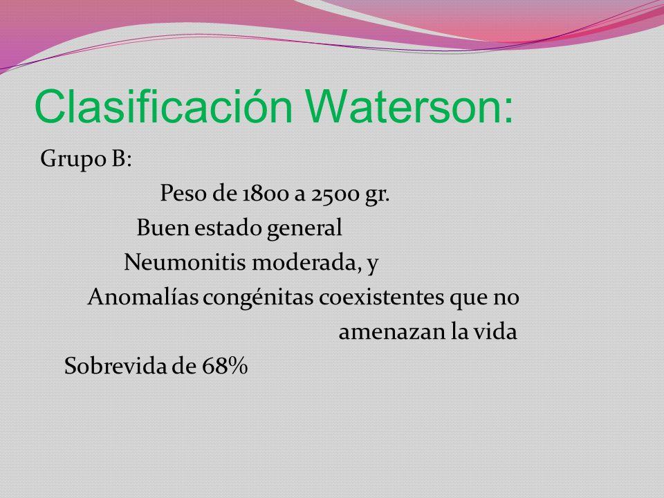 Clasificación Waterson: