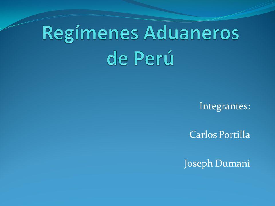 Regímenes Aduaneros de Perú
