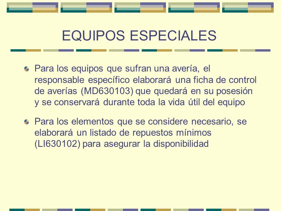 EQUIPOS ESPECIALES