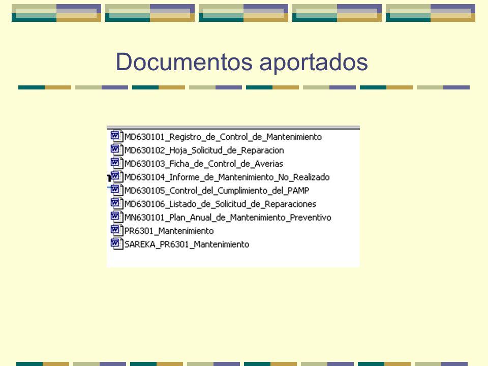 Documentos aportados