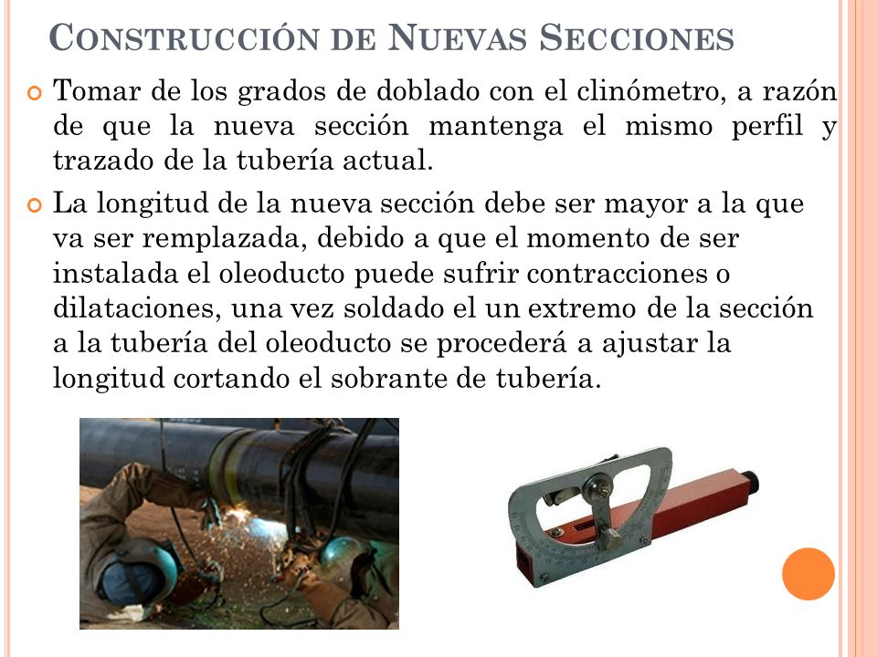 Construcción de Nuevas Secciones