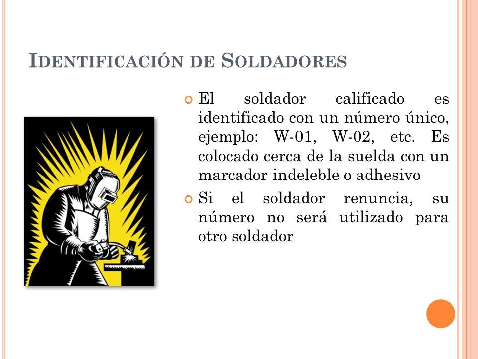 Identificación de Soldadores