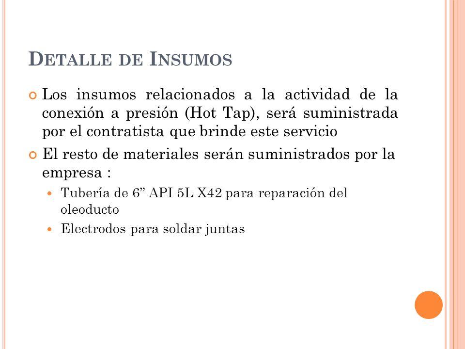 Detalle de Insumos
