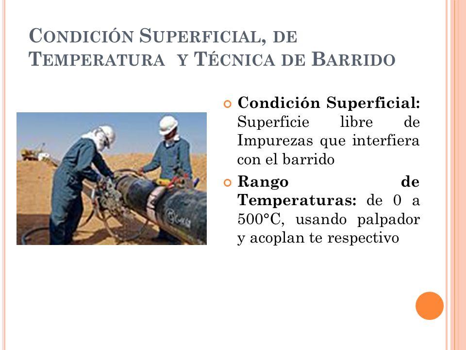 Condición Superficial, de Temperatura y Técnica de Barrido