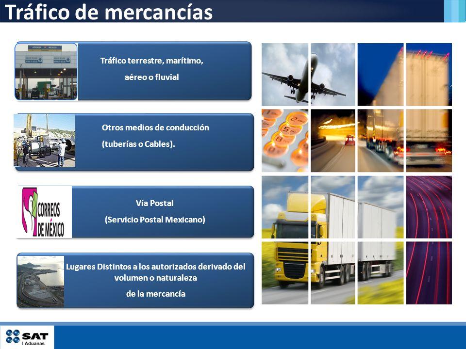 Tráfico de mercancías Tráfico terrestre, marítimo, aéreo o fluvial