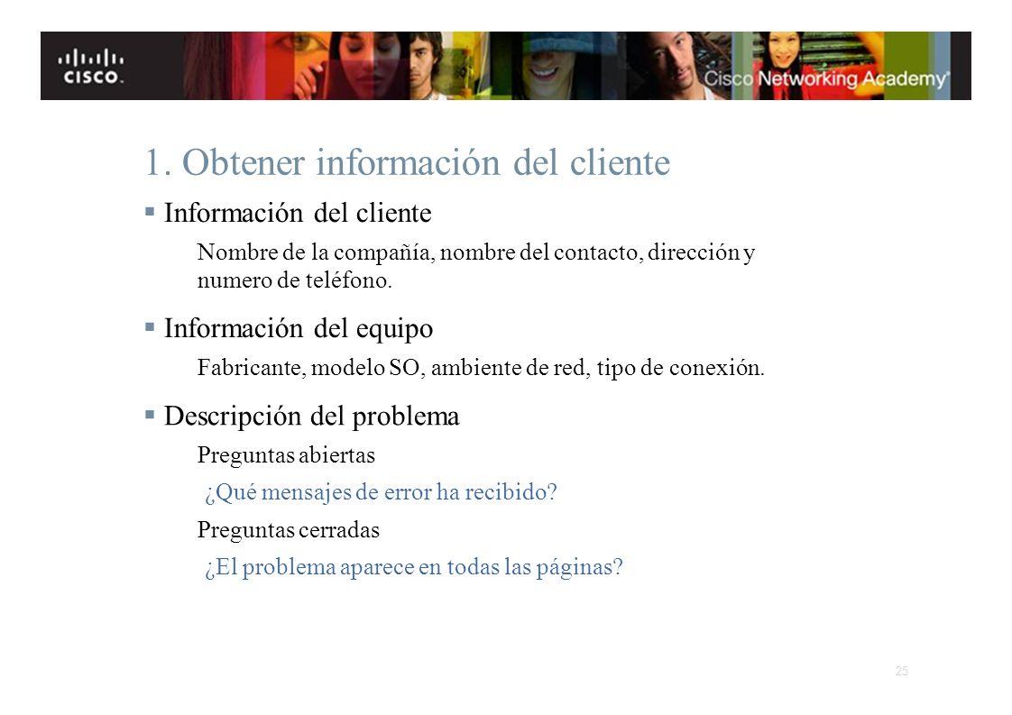 1. Obtener información del cliente