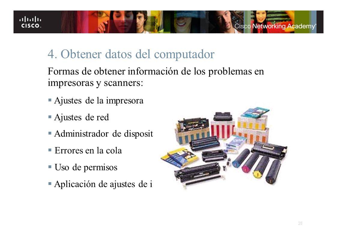 4. Obtener datos del computador
