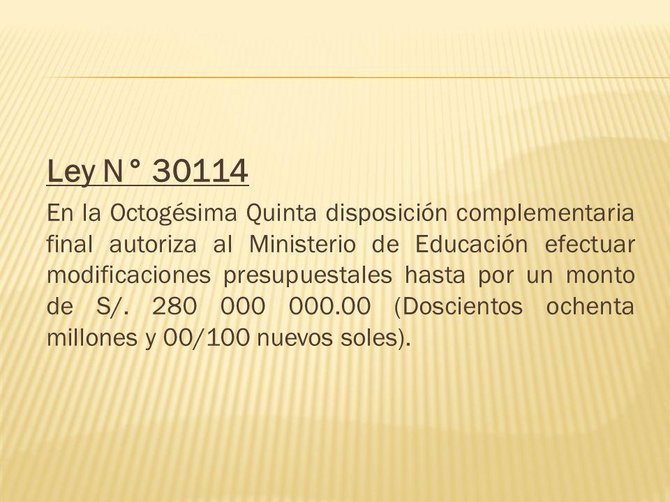 Ley N° 30114
