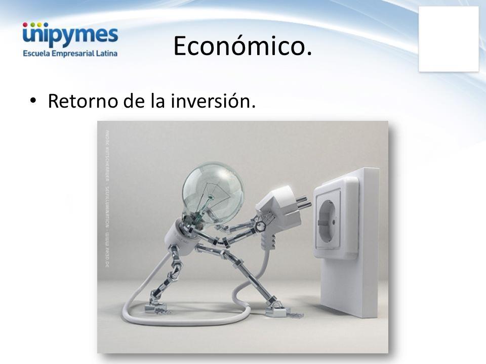 Económico. Retorno de la inversión.