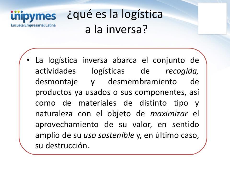¿qué es la logística a la inversa