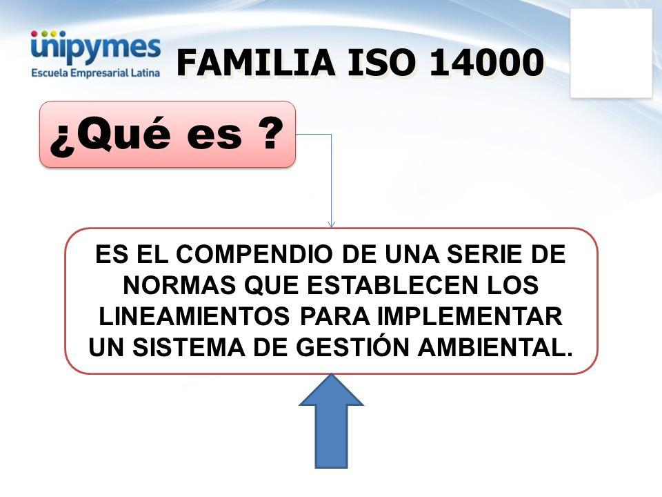 FAMILIA ISO 14000 ¿Qué es .