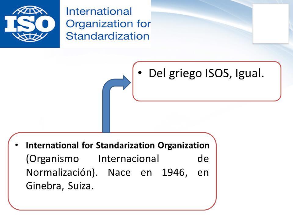 Del griego ISOS, Igual.